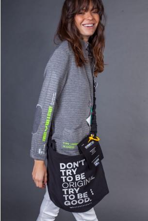 Black Color Handmade Unique Bag  DON'T TRY