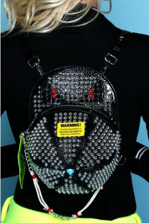 Black Handmade Unique Back Pack  FASHION
