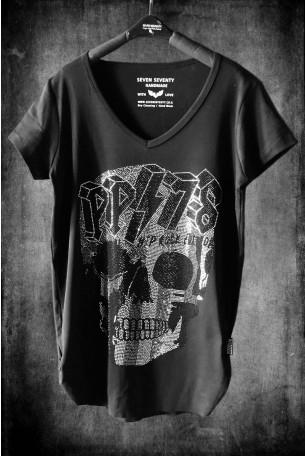 Black T Shirt  SKULL