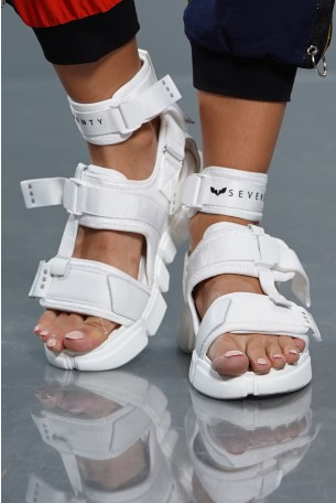 White Designed Sandals SEVEN