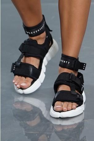 Black Designed Sandals SEVEN