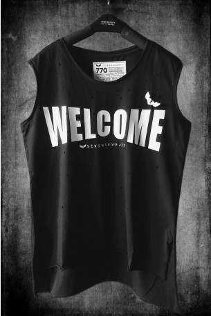 Black T Shirt  WELCOME