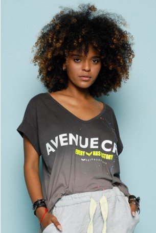 Gray Colors Wide Tee AVENUE