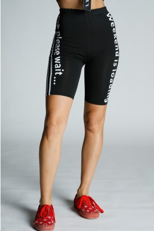 Black Bermuda Cut Leggings PLEASE