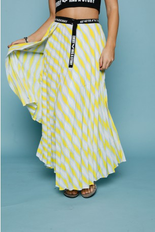 Yellow Colors Pleated Skirt PARKWAY