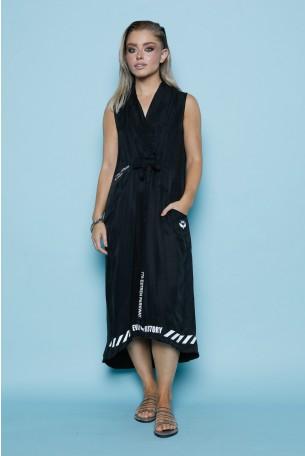 Black Silk And Satin Dress GIRL