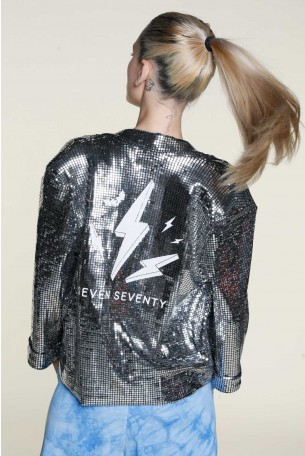 Silver Sequin Blazer Jacket ROCK