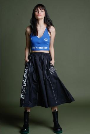 Black Midi Skirt LEGENDARY