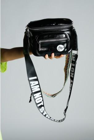 Black  Handmade Unique Bag  I AM