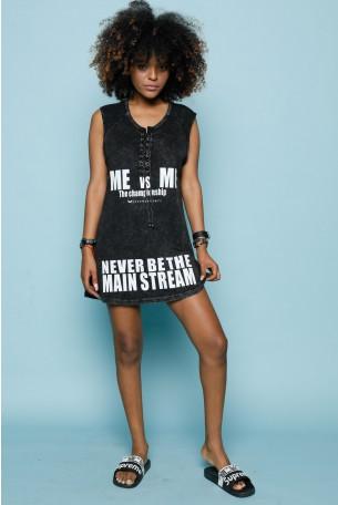 Black Mini Dress Tunic  MAIN STREAM