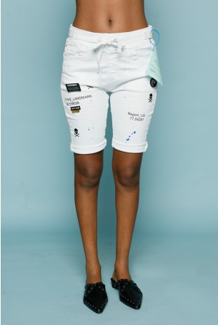 Short White Denim Pants REGION