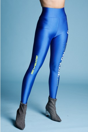 Blue Designed Leggings RAIN