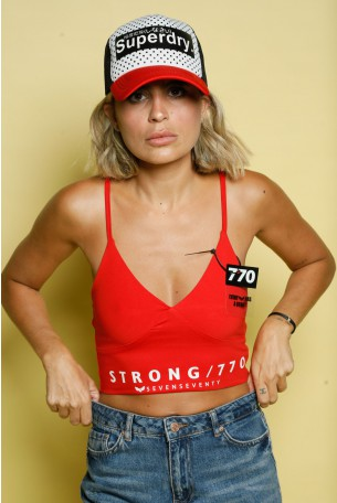 Red Crop Top STRONG