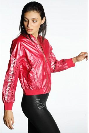 Dark Pink Nylon Jacket  PLEASE