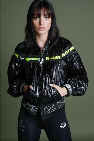 Black Nylon Jacket  ONE WAY
