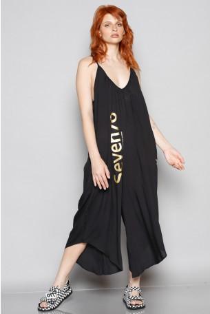 Black Color Sleeveless  Long Overall SEVEN 770