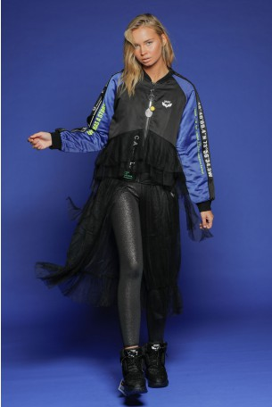 Black  And Blue Jacket With a Tulle skirt LOS ANGELES