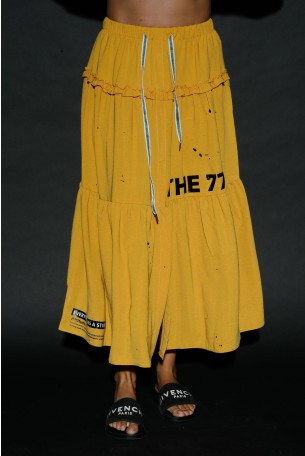 Mustard Yellow Color Maxi Skirt STORY