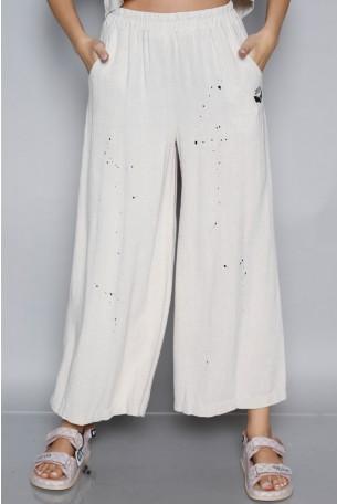 Designed beige Linen Pants SEVEN