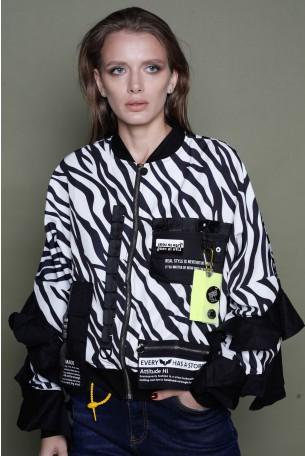 Black And White Zebra Jacket STYLE
