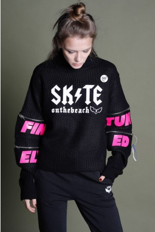 Black  Knitted Top SKATE