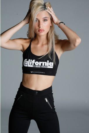 Black Crop Bra CALIFORNIA