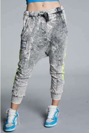Washed Grey Jogger Pants CRUSH