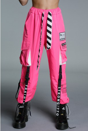 Designed Pink Jogger Pants ATTITUDE