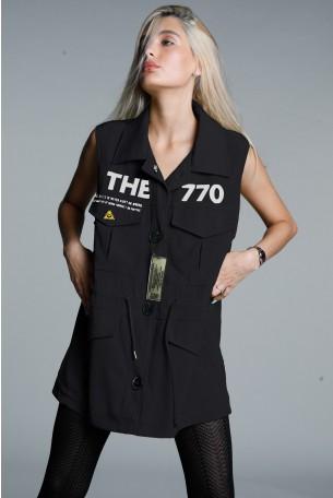 Black Designed Vest SEVEN