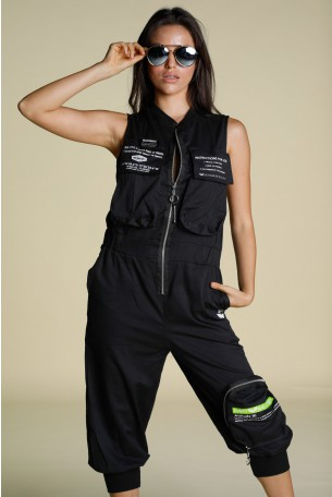 Black Baggy Overall Cargo Style INSTRUCTIONS