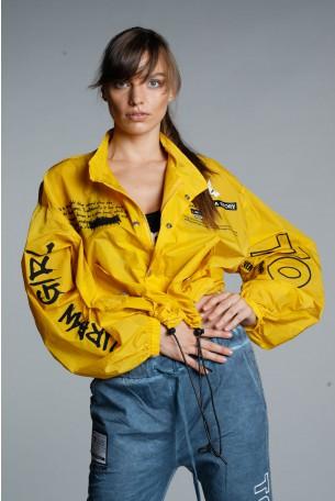 Mustard Yellow Designed Jacket Top URBAN