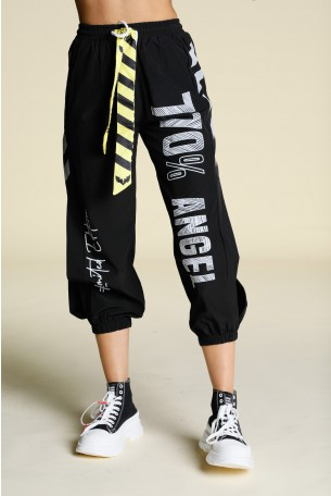 Black Nylon Jogger Pants ANGEL