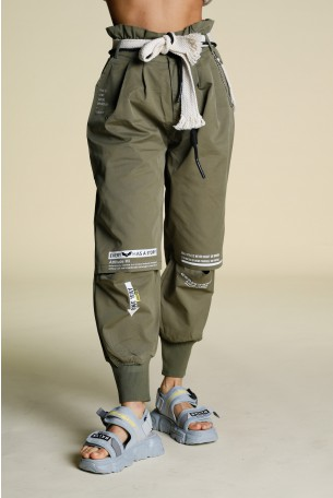 Olive Green Cargo Pants ONE WAY