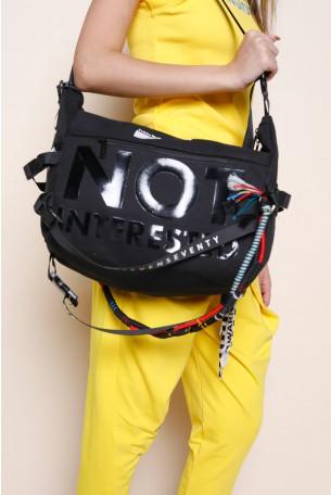 Designed Black Hand  Bag  NOT