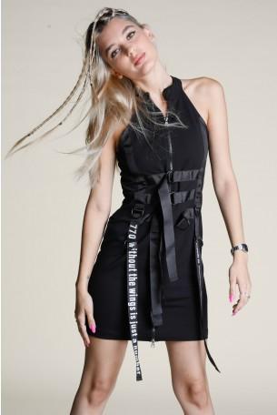 Black Mini Dress WINGS