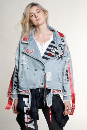 Unique Design Denim Jacket BOOM