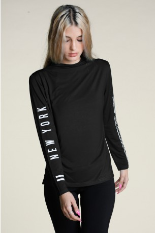 Black Long Sleeve Turtleneck BASIC