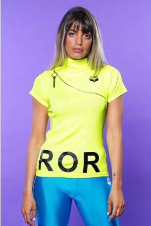 Yellow Turtleneck Short Sleeve Shirt ERROR