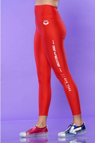 Red  Lycra Leggings STORY