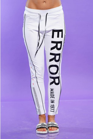 Designed White  Jogger  Pants ERROR