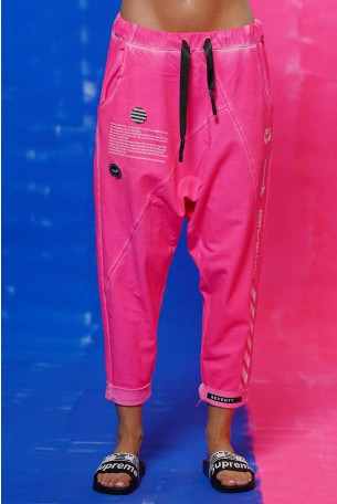 Neon Pink Jogger Pants STORY