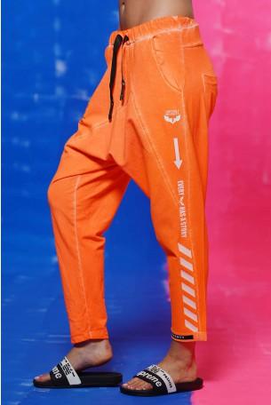 Neon Orange Jogger Pants STORY