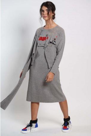 Grey Dress BOWIE