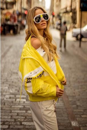 Wide Yellow Wind Coat  FEEL