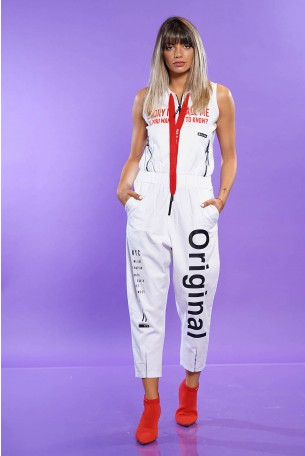 White  Designed Overall ORIGINAL
