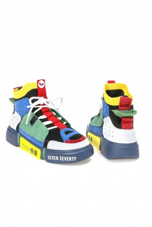High Top Multicolor Sneakers MULTICOLOR