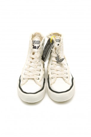 White  High Cut Sneakers WARNING