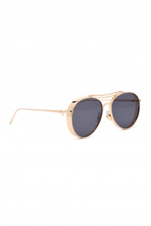 Designed Golden Frame Sunglasses  LOVE
