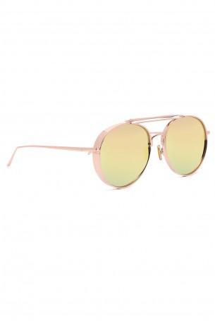 Designed Red Gold Frame Sunglasses  LOVE