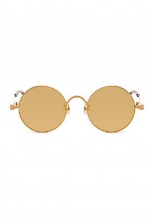 Designed Red Gold Frame Sunglasses  ROUND